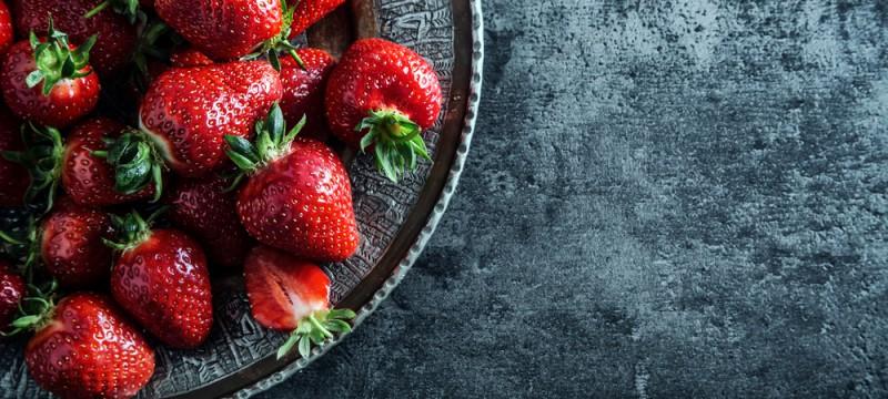 Fresas aliñadas con tomate