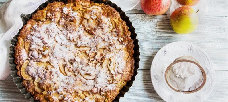 Pastel alsaciano de manzana con canela